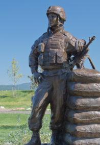 Military Bronze Statues