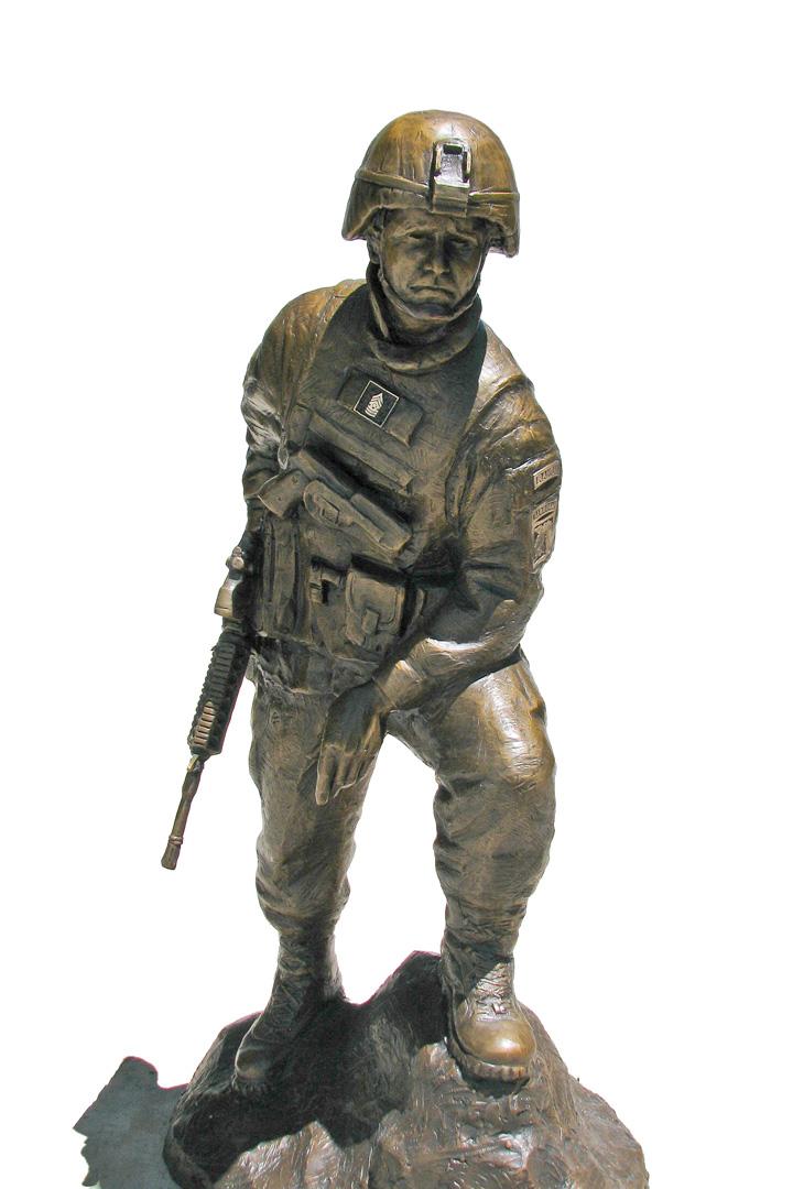 Custom Bronze Military Memorial Statue Monument