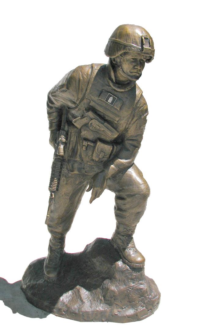 Iron Mike Custom Custom Bronze Military Monument