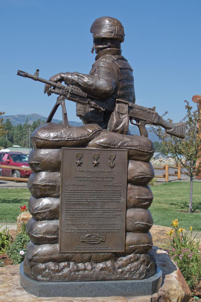 John Borbonus Custom Bronze Statue Plaque