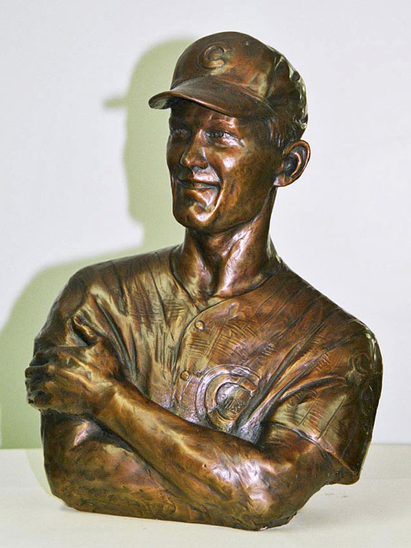 Ken Hubbs Custom Bronze Portrait Sculpture Bust Trophy by Lena Toritch