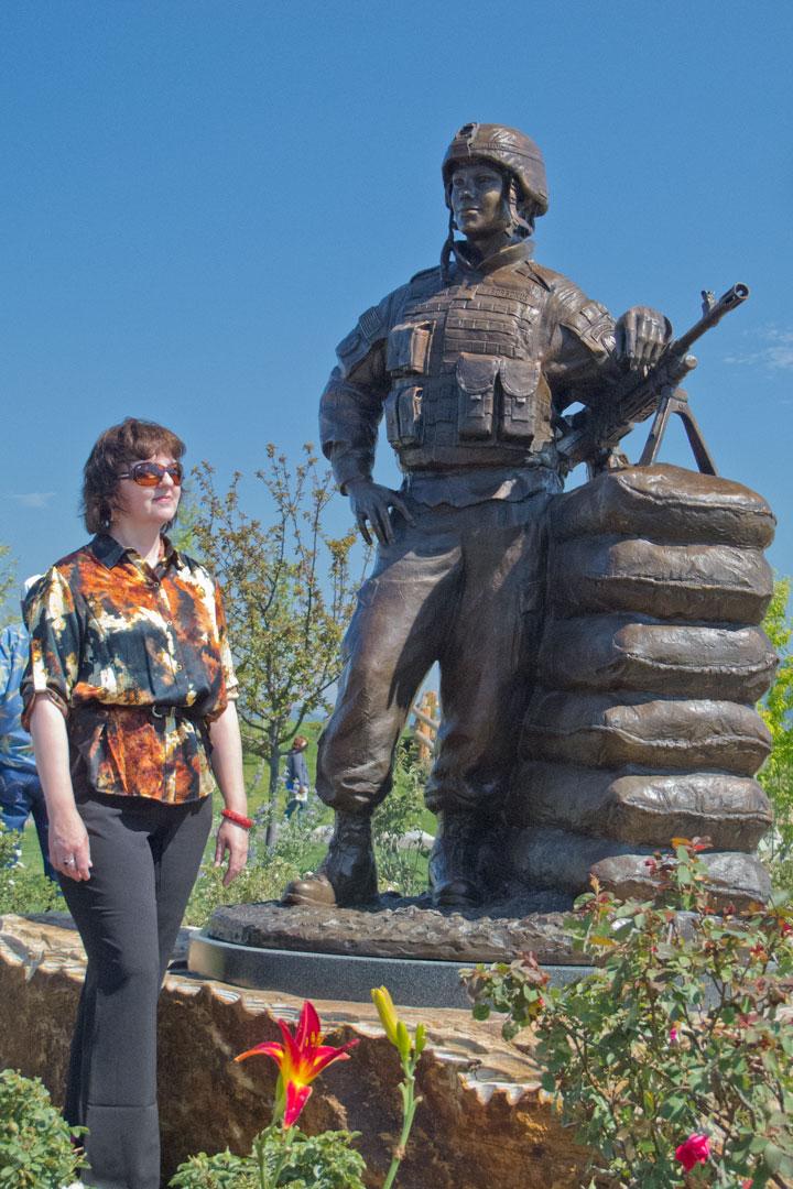Lena with SPC Borbonus custom bronze monument portrait sculpture