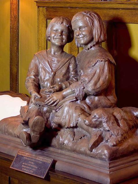 Molly and Mairin Children's Bronze Portrait