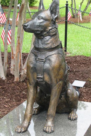 SOF K9 Custom Bronze Military Dog Statue Custom Bronze by Lena Toritch