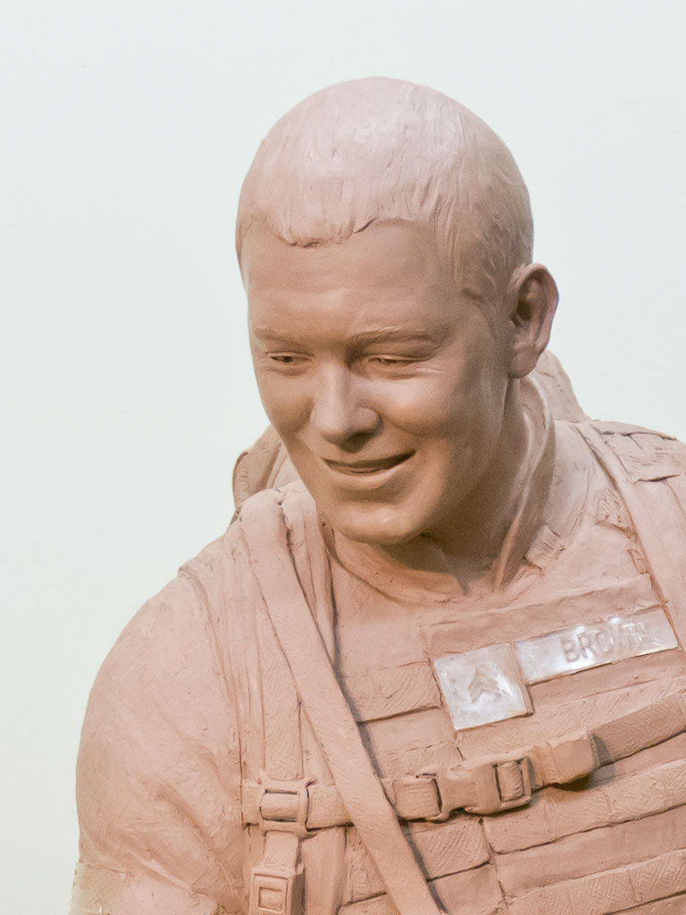 Sgt.Dan Brown statue face likeness