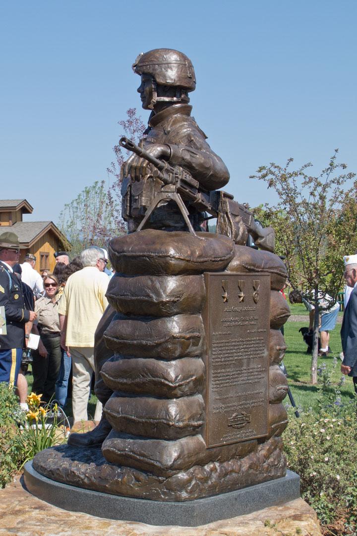 SPC Borbonus custom bronze monument portrait sculpture