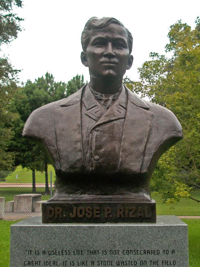 Dr.Jose P.Rizal Bronze Portrait Bust| Lena Toritch