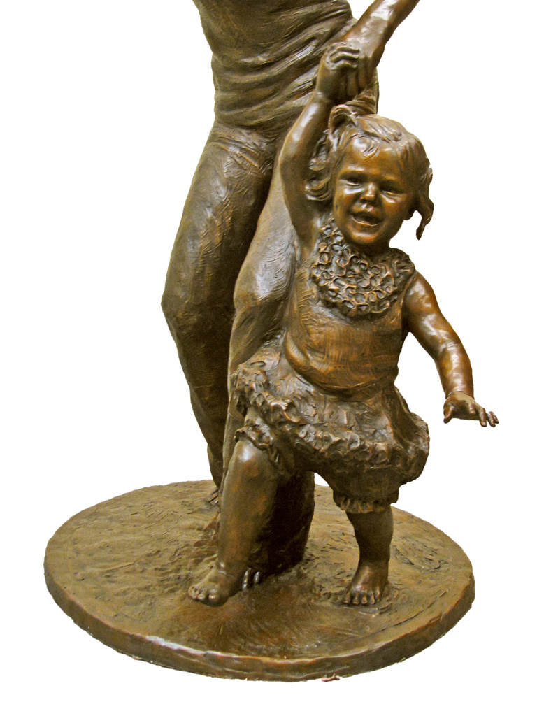 bronze life-size children sculpture by Lena Toritch
