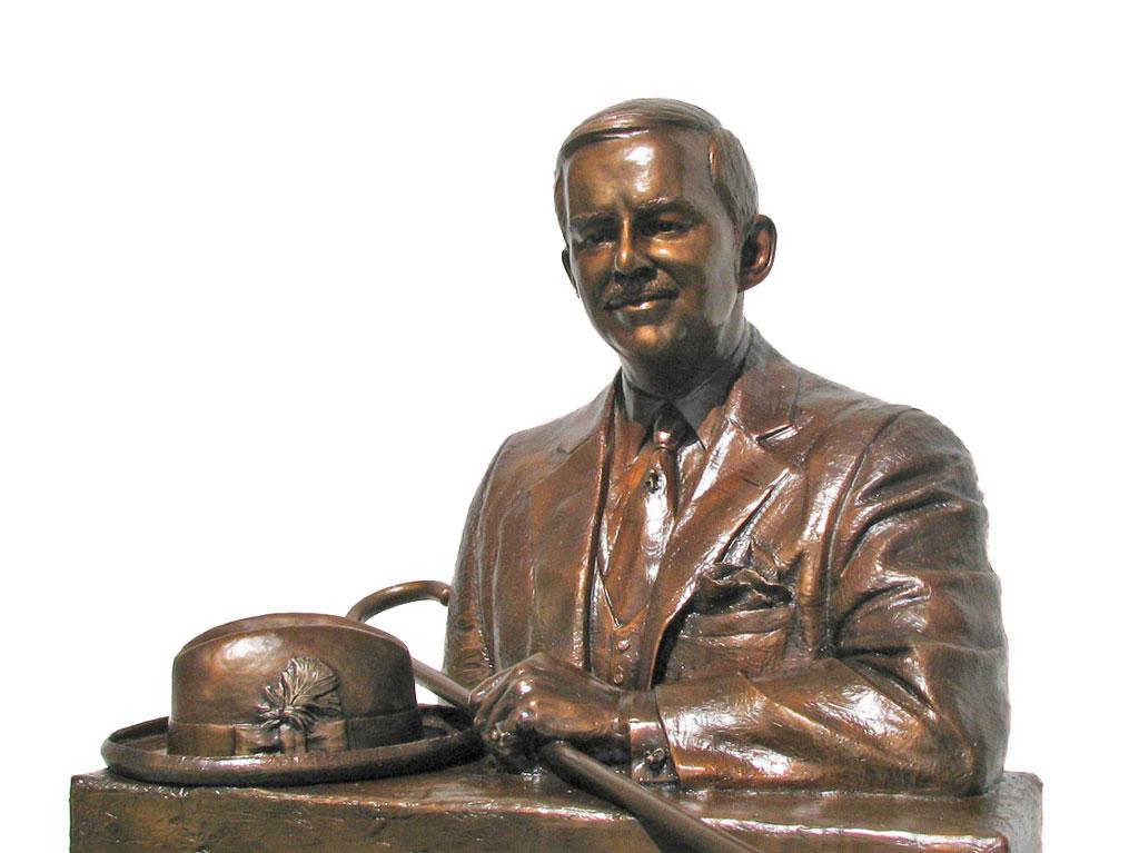 Custom Bronze Monument portrait sculpture bust by Lena Toritch