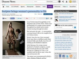 Deseret News | Sculptor brings woman's personality to life