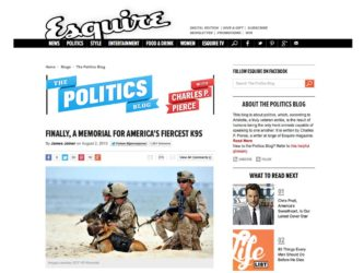 Esquire | A Memorial for America's Fiercest K9s