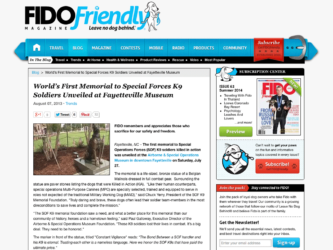 FIDO Friendly | World's First Memorial to Special Forces K9 Soldiers Unveiled at Fayetteville Museum