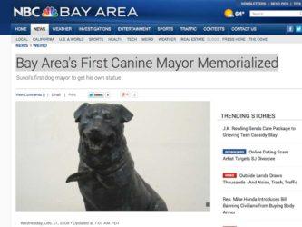 NBC Bay Area | Canine Mayor Memorialized