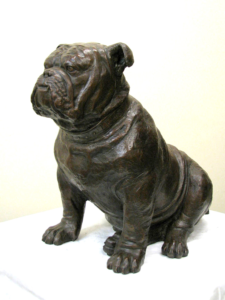 Made to order Twice Life-size Bronze Bulldog Mascot
