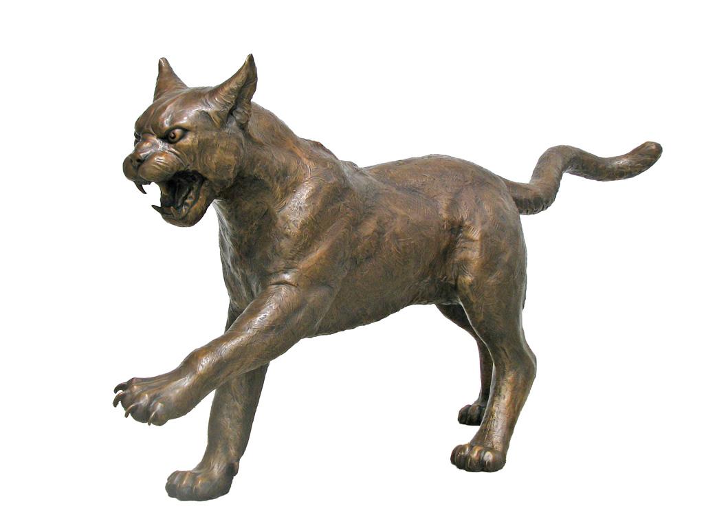 wildcat mascot custom bronze statue