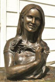 Bronze Portrait Memorial Bust