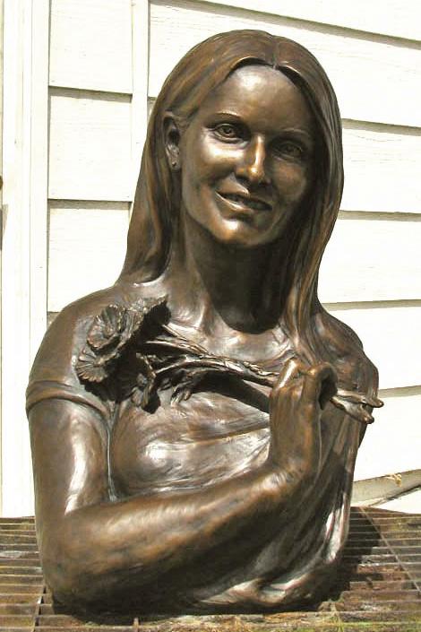 custom bronze portrait sculpture bust of a woman by Lena Toritch