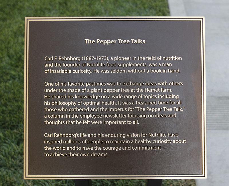 Bronze text plaque