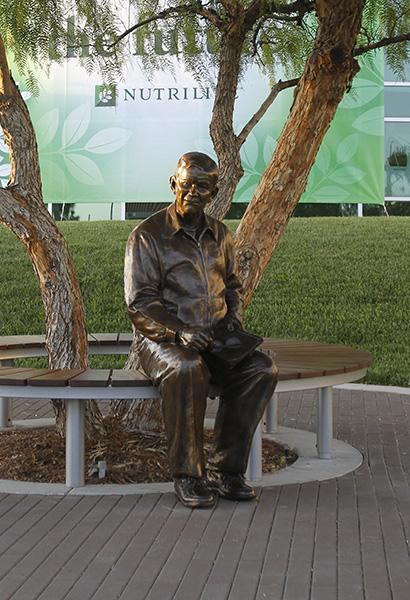 Custom Bronze life-size portrait statue of Carl Rehnborg