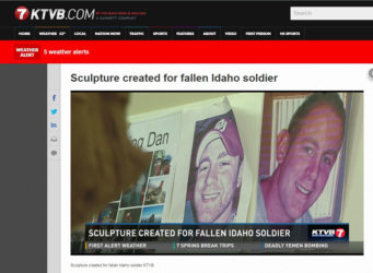 KTVB.COM Reports: Sculpture Created for Fallen Idaho Soldier