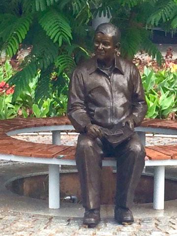 Carl Rehnborg Bronze Portrait in India