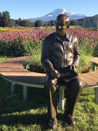 Carl Rehnborg Bronze Portrait in Washington
