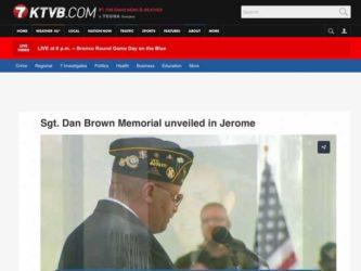 KVTB 7 Coverage of Sgt. Dan Brown Memorial Dedication