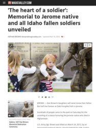 MAGICVALLEY.com Coverage of Sgt. Dan Brown Memorial