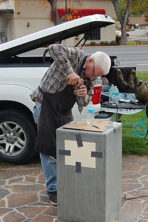 Smithfield Veterans Memorial Battlefield Cross Installation