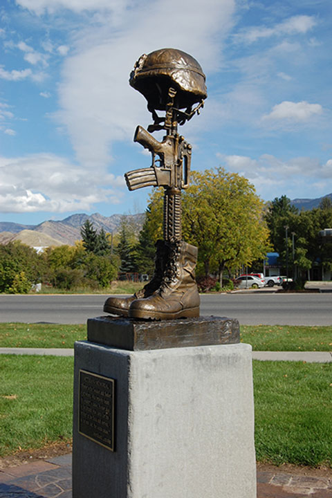 Smithfield Veterans Memorial Battlefield Cross