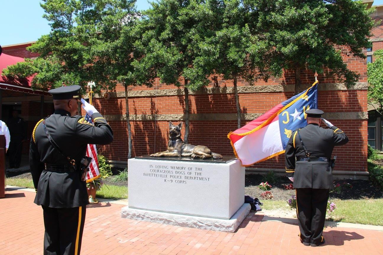 FayK9 memorial and salute