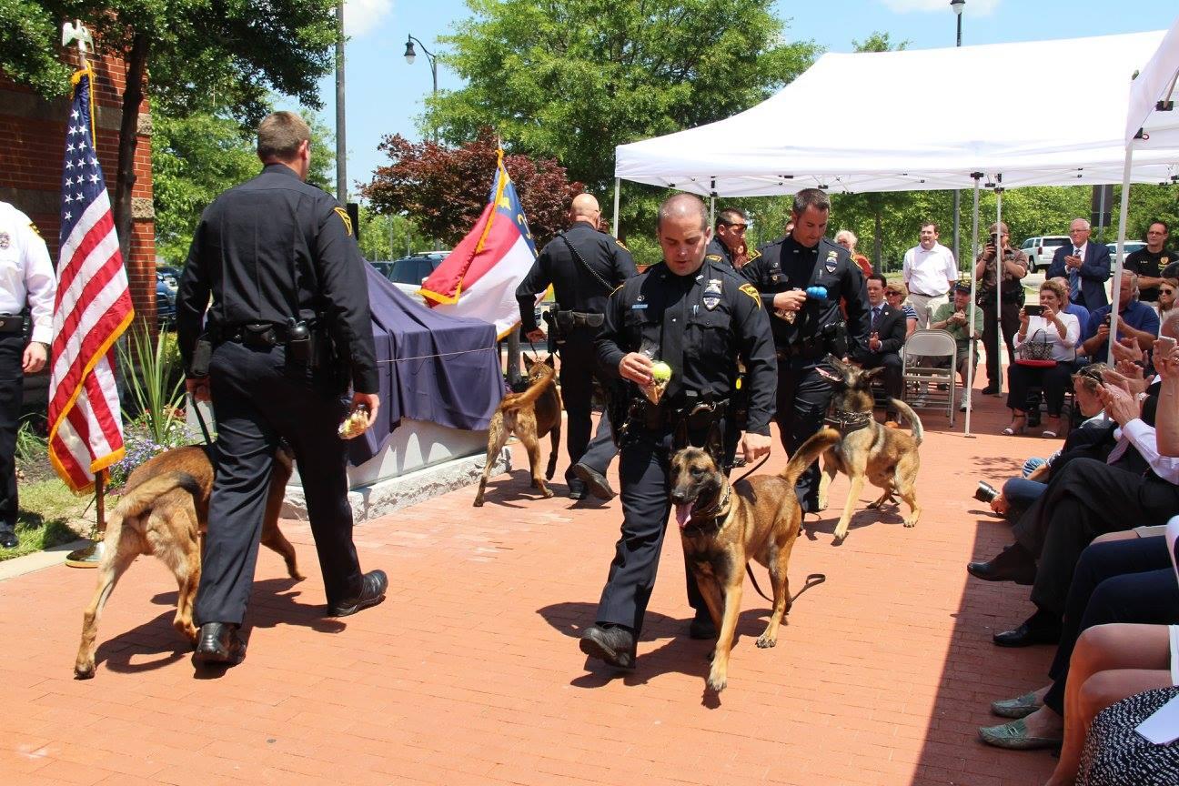 Fayetteville police k9 unit parade