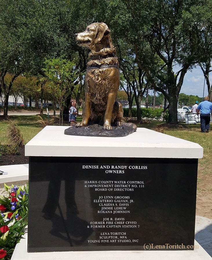 SAR K9 Bretagne Bronze Statue