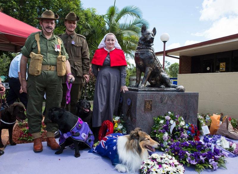 K9 Soldier Statue